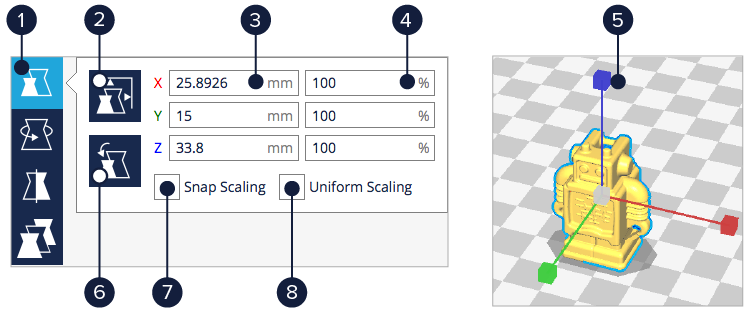 3DMART Cura2.1 操作介面