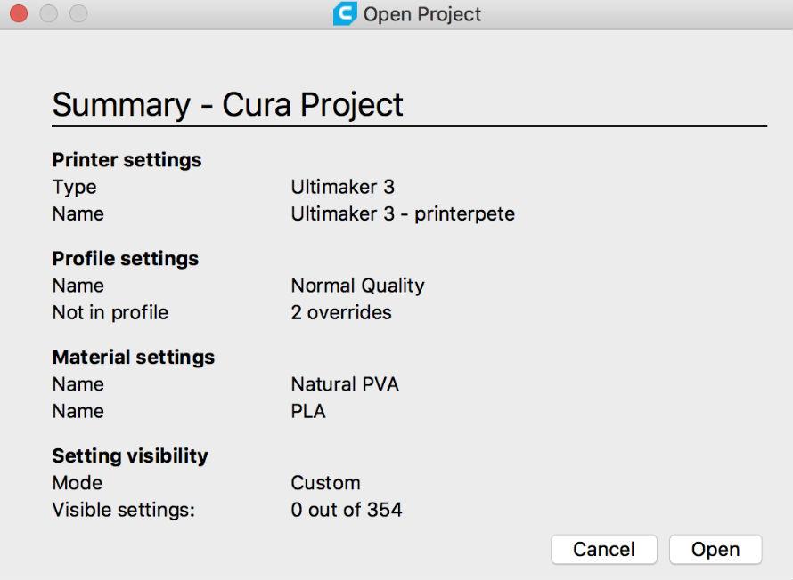 Ultimaker cura2.4 開啟檔案