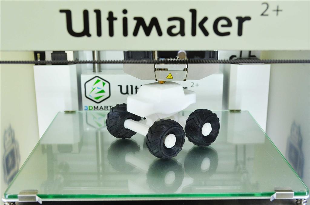 3DMART Ultimaker 2+ 3D列印機 polymaker PC- MAX  高強度 耐熱 線材  車子