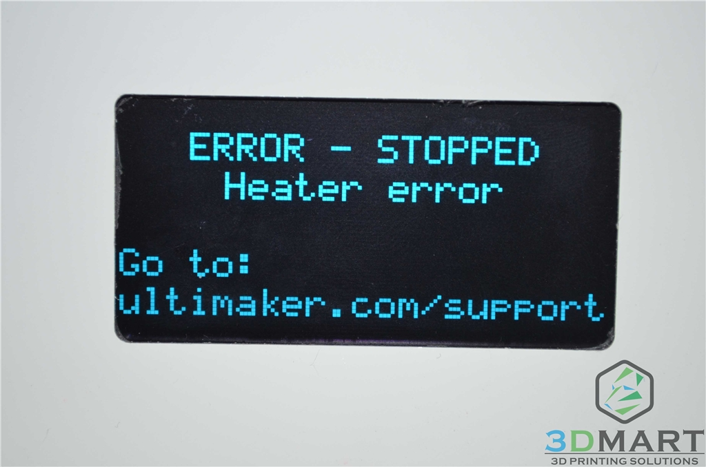 3DMart - Ultimaker Heater Error