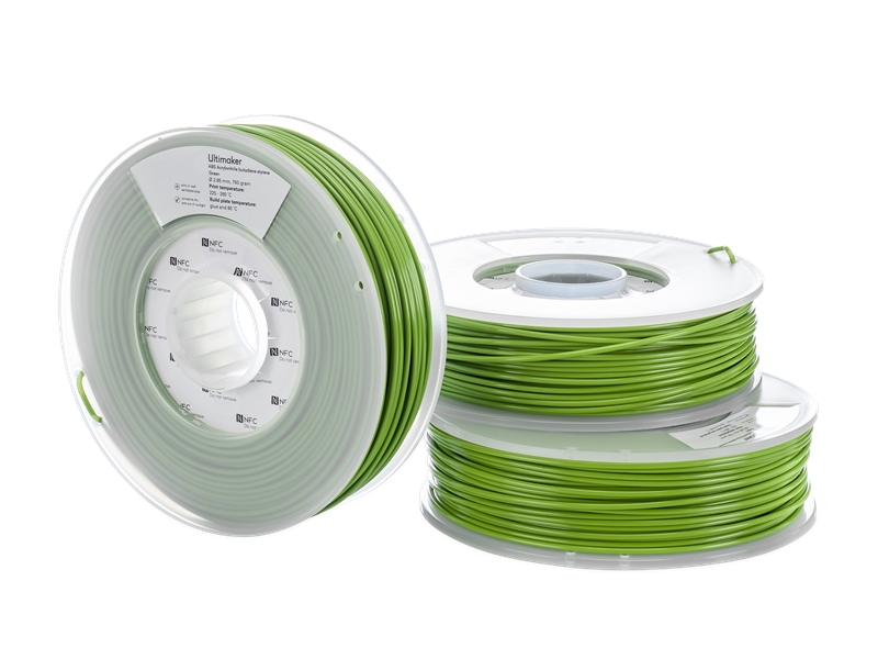 Ultimaker ABS-3D列印線材-綠色(Green)-Spool