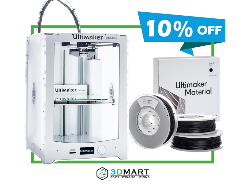 Bundle Ultimaker 2 Extended Plus - 3D列印機