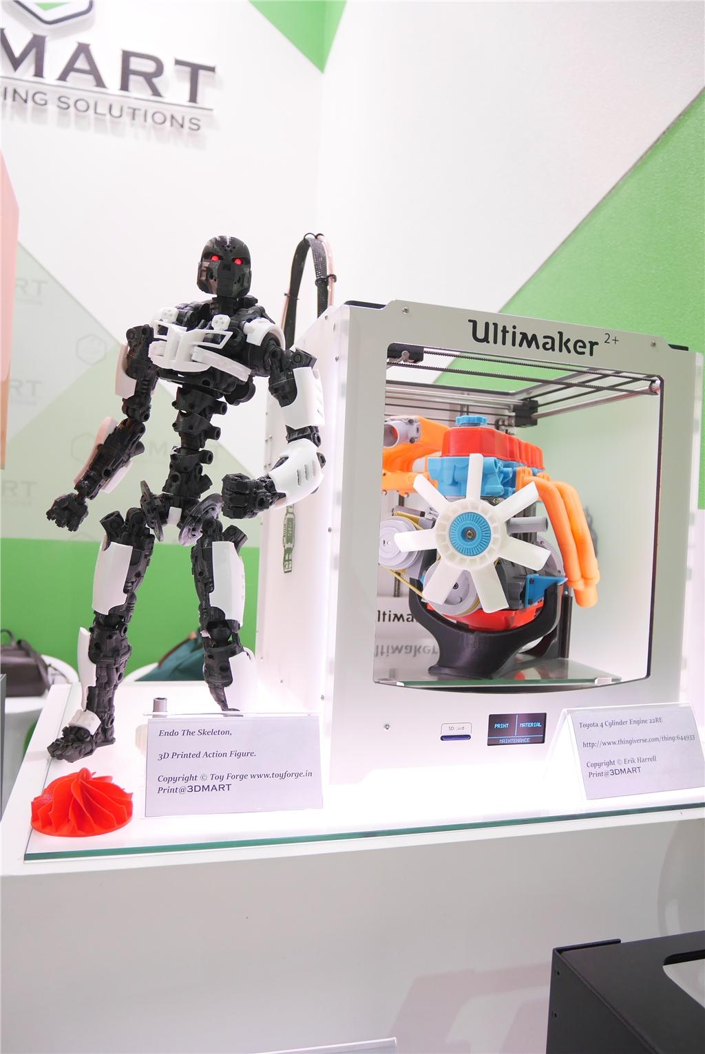 taimold 模具展 3d列印 三帝瑪 骷髏機器人與四缸引擎