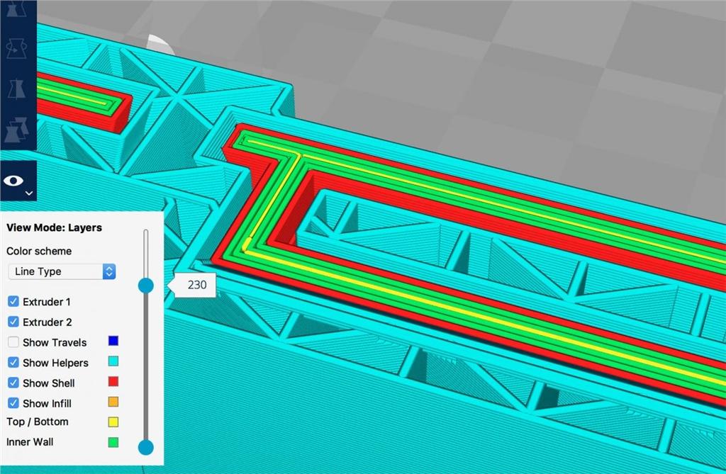 Ultumaker 3D列印機 切片軟體 Cura2.5 改善3D預覽模式