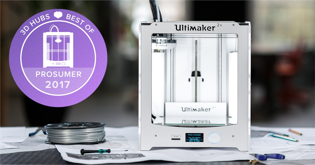 3D Hubs win Ultimaker 2+ 第一名