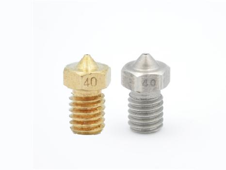 Ultimaker2+ 同捆包  0.4mm口徑黃銅及不鏽鋼噴嘴