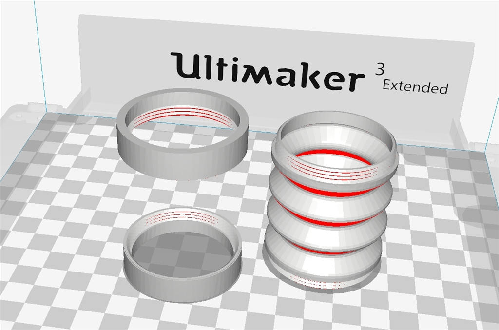 Ultimaker 3 Extended的軟硬材料新組合TPU-PLA = Cura