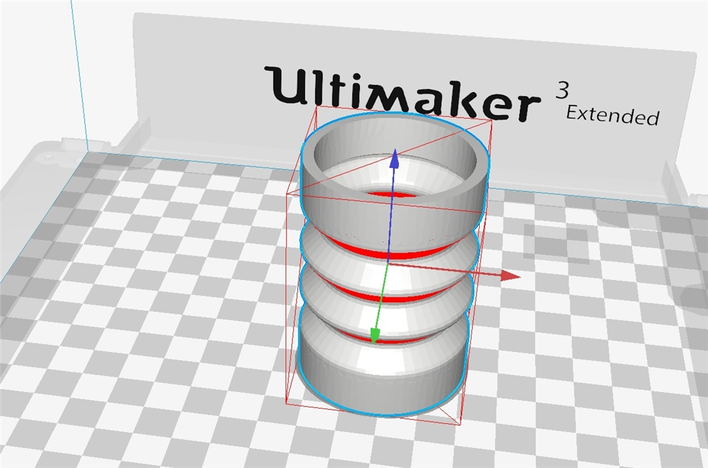 Ultimaker 3 Extended的軟硬材料新組合TPU-PLA - Cura