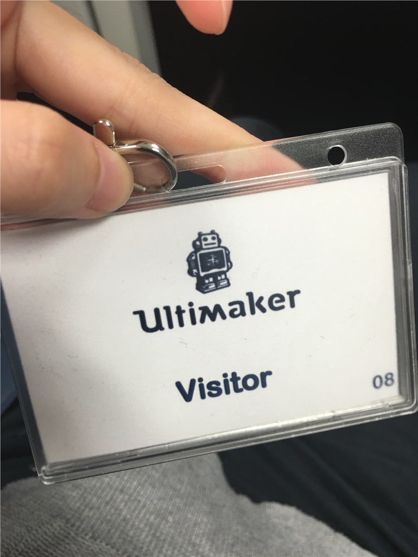 3DMART 前往荷蘭 接受Ultimaker 原廠訓練 訪客證