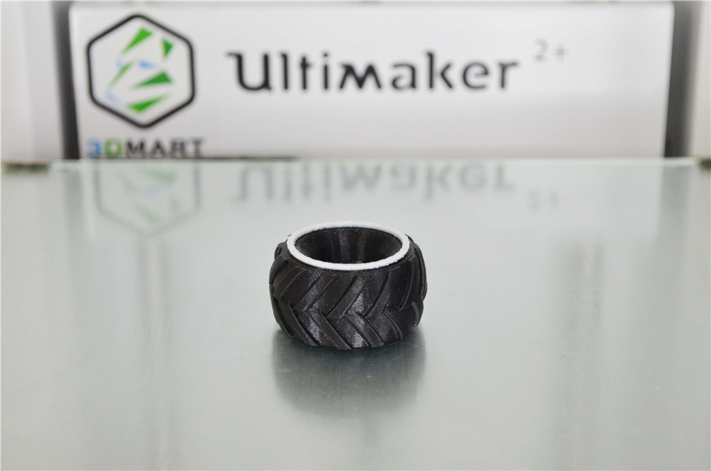 3DMART Ultimaker 2+ 3D列印機 Ninjatek Cheetah  輪胎 換色 成品