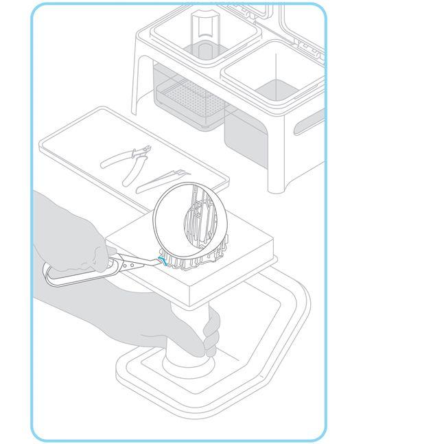 Formlabs - Form2 SLA 光固化3D列印機 3DMART 移除物件