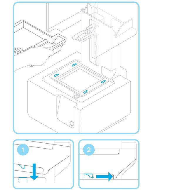 Formlabs - Form2 SLA 光固化3D列印機 3DMART 安裝樹脂槽