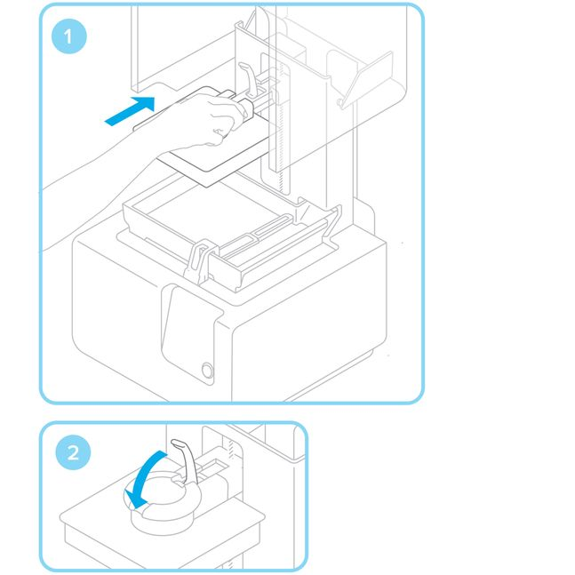 Formlabs - Form2 SLA 光固化3D列印機 3DMART 安裝列印平台