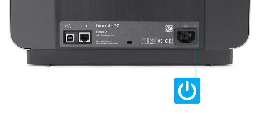 Formlabs - Form2 SLA 光固化3D列印機 3DMART Form2連接電源