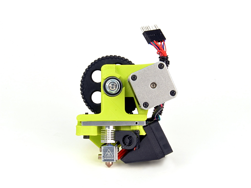 LulzBot Mini Flexystruder Tool Head v2, 3D printer,  FDM, FFF, 3D列印機, 3D印表機, 3D列表機, TPE, TPU, 彈性材料, 彈性3D列印材料