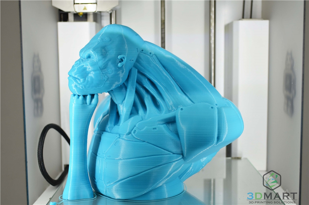 Ultimaker 3D列印機 Esun PLA+材料 Poachers Cortex 支撐未拆側面