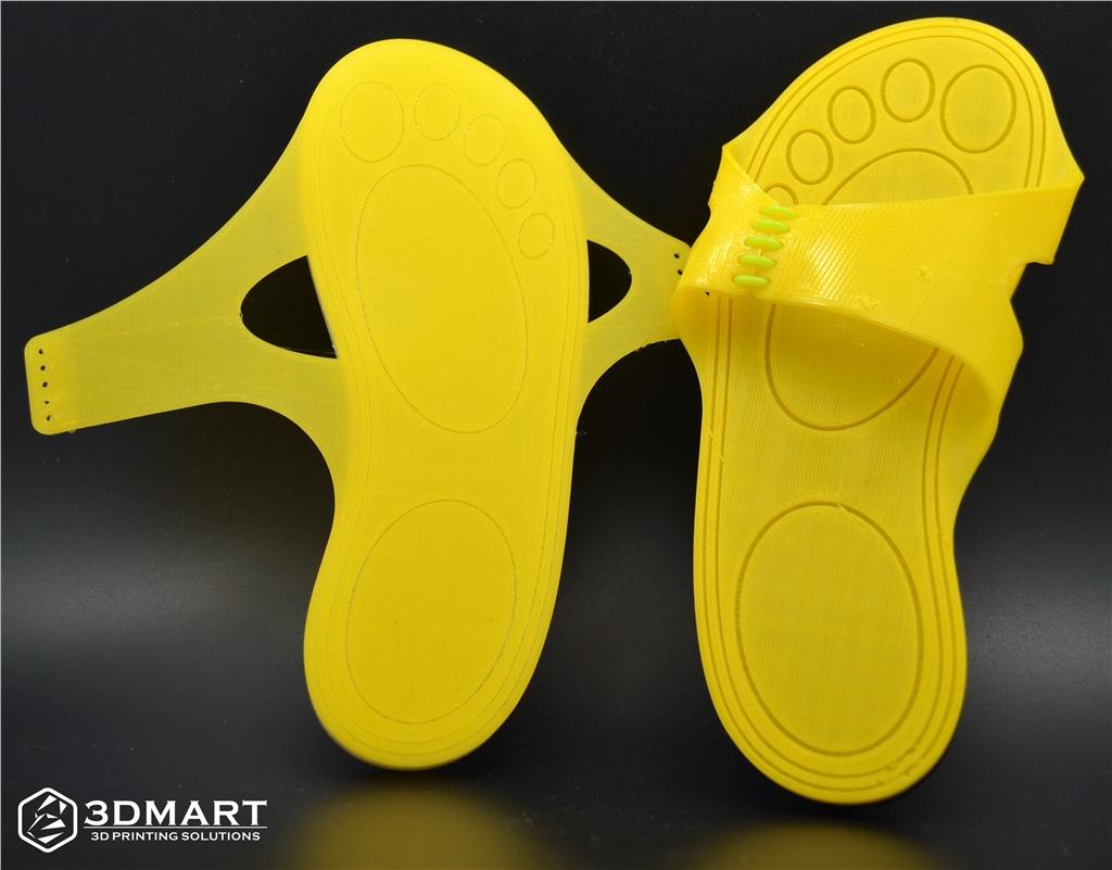 Lulzbot 3D列印機, NinjaFlex, 3D列印彈性線材, 拖鞋