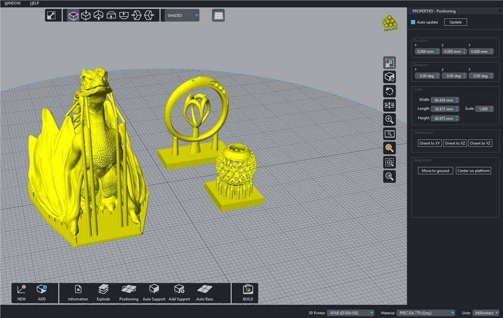3DMART引進DWS高級桌上型SLA光固化3D列印機XFAB  - 切片軟體