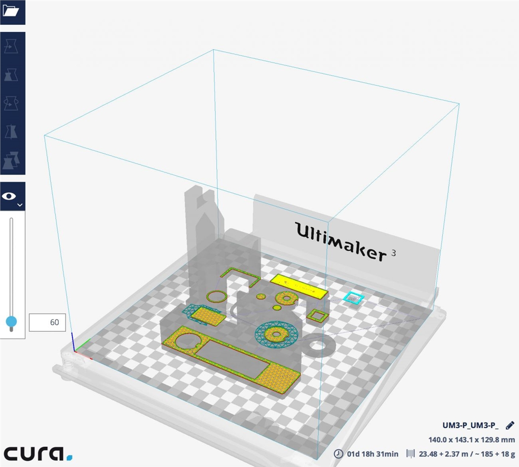 Ultimaker cura2.4 主塔