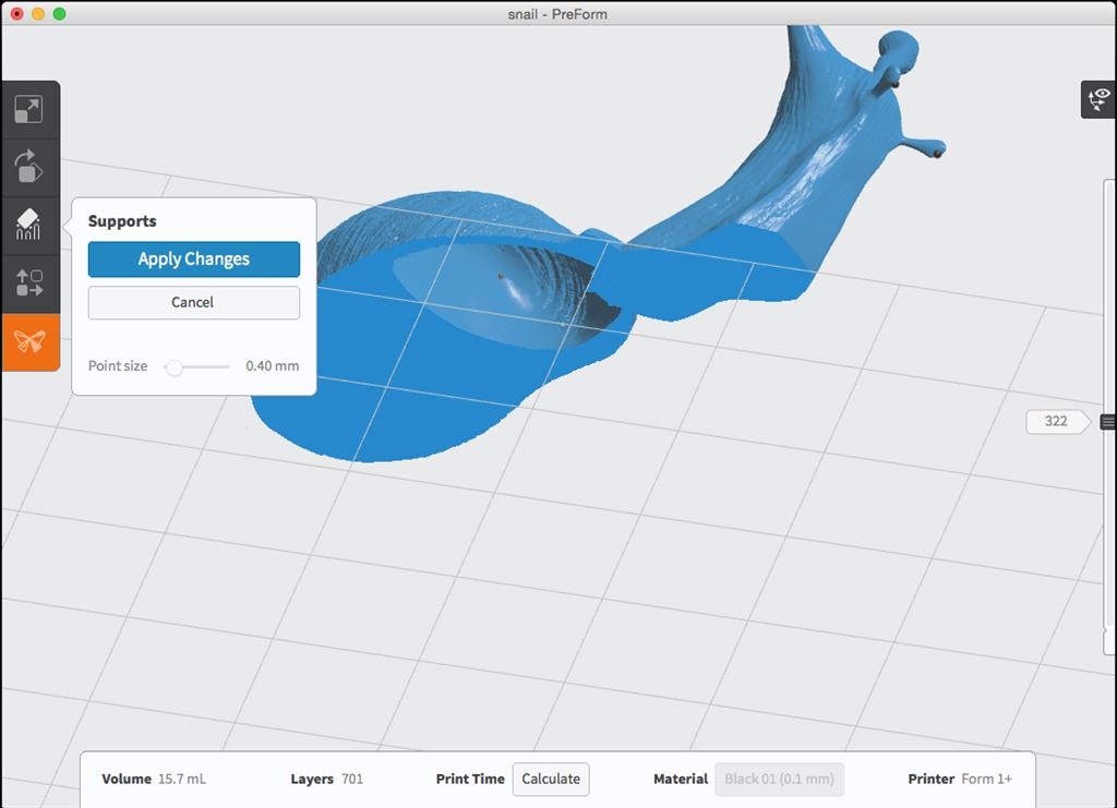 formlabs form2 preform切片軟體教學 進階支撐設定 切片內部