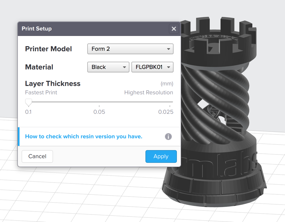 formlabs form2 preform切片軟體教學 層厚設定 變更層厚