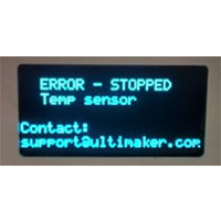 感溫線錯誤訊息 (Error-stopped Temp Sensor)