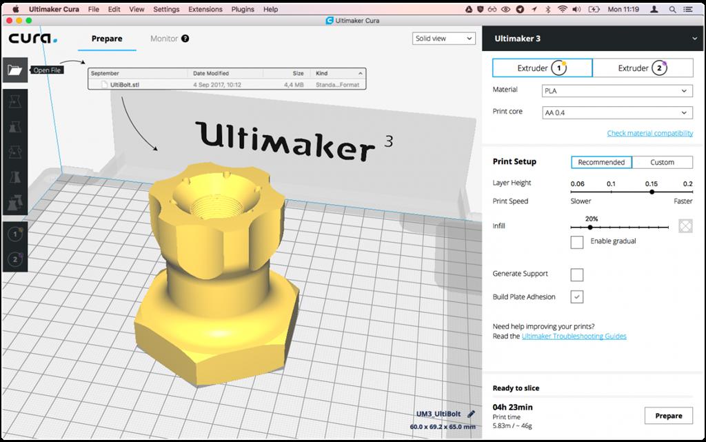 開啟3D列印檔案