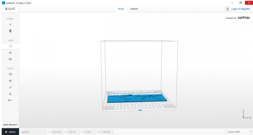 Zortrax M200  Z-Suite操作指南 放置模型 旋轉視角