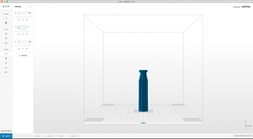 Zortrax M200  Z-Suite操作指南  物件擺放方向 列印品質