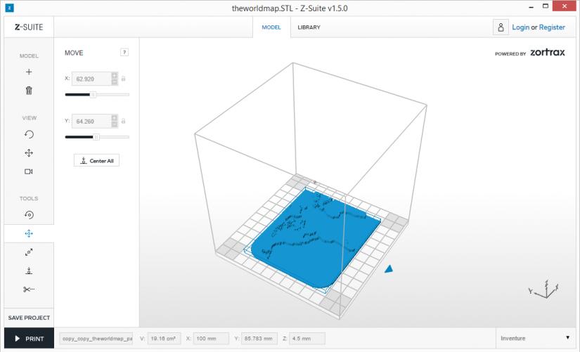 Zortrax M200  Z-Suite操作指南 分割物件 split 分別輸出